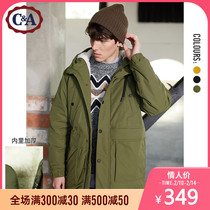 CA hooded casual Parker cotton men 2019 Winter new workwear cotton jacket coat CA200222246