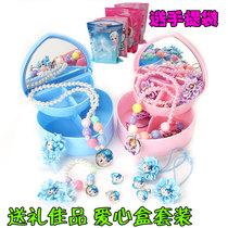 Дети ожерелье комплект аксессуары для волос принцесса ребенок девушки ювелирные изделия заколки для волос дети кольцо браслет ювелирные изделия девушки Джокер