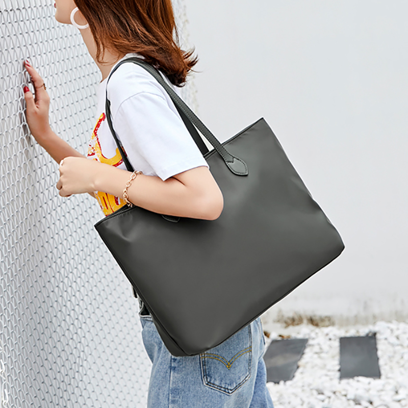 New Simple Canvas Bag Total Bag Nylon Bag Handbag Large Capacity Bag Single Shoulder Bag Girl Bag