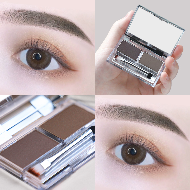 Cazilan eyebrow powder, waterproof, natural, sweat proof, durable, non decolorizing, authentic brand counter, double effect, beginner's eyebrow pencil