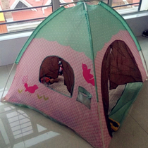 Childrens tent indoor and outdoor toy game house Princess baby over family girl folding big house ocean Ball Pool