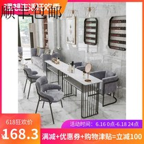 European-style net celebrity ins modern nail art table and chair set Beauty shop single double manicure table Simple wrought iron table sutra