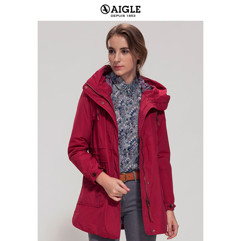 [The goods stop production and no stock]AIGLE Ms. Eldgar MTD waterproof breathable warm cotton jacket VALLYPAD