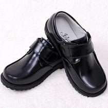 Детская кожаная обувь для мальчиков моно черные туфли для мальчиков большие дети показывают обувь свинья кожа внутренняя весна и осень коровья кожа обувь натуральная кожа