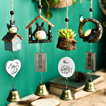 Wind bell pendant small fresh copper bell pendant plant Japanese creative door hanging room decoration girl's Day gift