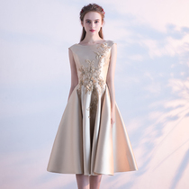 Summer party embroidery show thin noble elegant bridesmaid dress