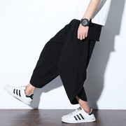 Chinese wind new men loose cotton casual pants pants outfit Nepal radish nine big pants in summer