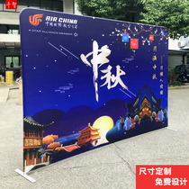 Fast Curtain Show Frame Express exhibition frame signature Wall pull up display frame advertising campaign background wall aluminum alloy check-in exhibition
