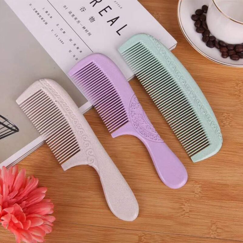 Seven-color comb language, fashion comb, wheat fragrance comb, modern women's carry-on cosmetic tools