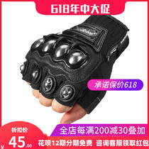 Summer half finger motorcycle gloves men and women exoskeleton anti-slip knight off-road racing motorcycle riding equipment