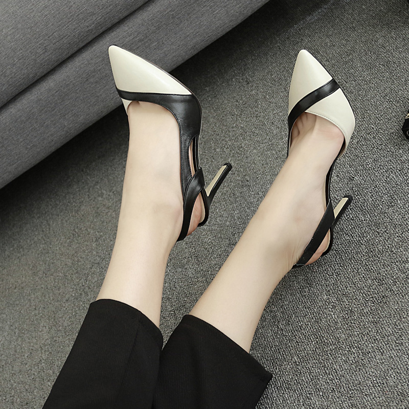 Women's Summer High-heeled Shoes with Tip-toe Sandals in New Fashion in 2019