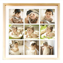 20 inch square solid wood photo frame Nine Miyagi 9 large wall picture frame custom photo Rinse photo Studio children