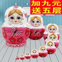 Matriochka secouer son authentique dix-histoire jouets éducatifs peint à la main traditionnelle à la main Tilleul séché 10 couche 08