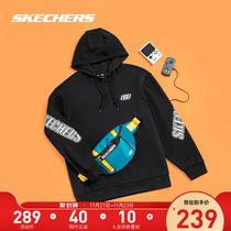 Skechers Sketch Winters new menswear off-the-shoulder plus-down hoodie with loose-fitting trend sportswear