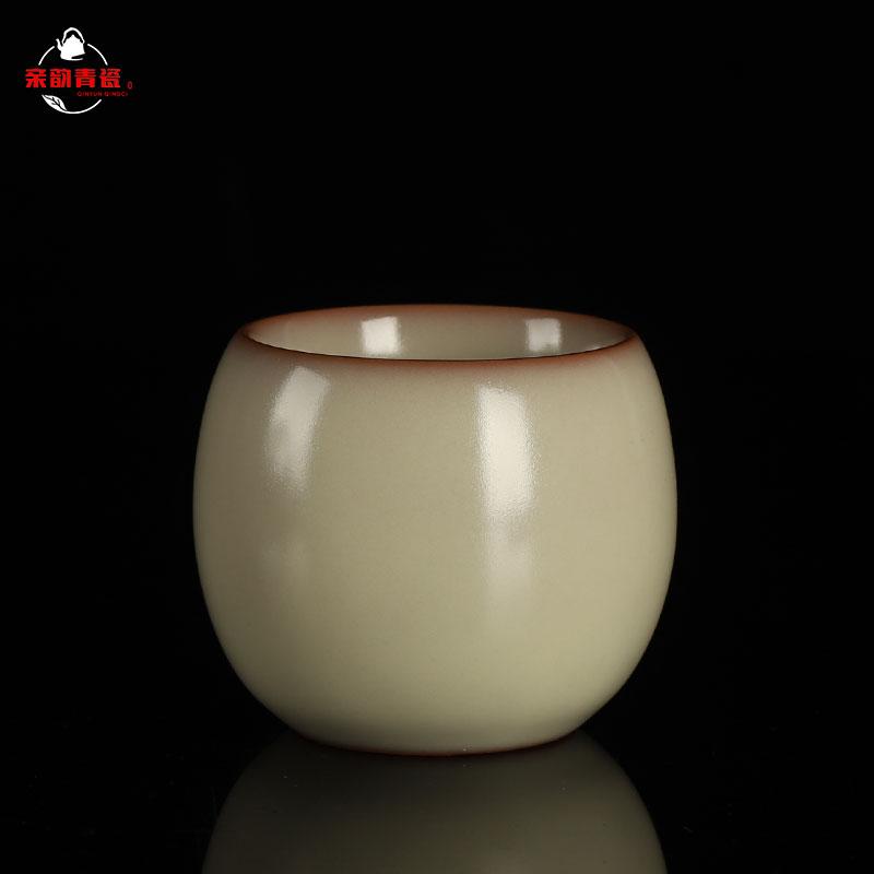 Pro-Yun Longquan kiln Qing porcelain kiln master cup single cup hand iron bone worker Wang Wen single tasting cup Kung Fu tea cup