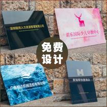 La publicité de la carte daffichage de la société de marque acrylique de la plaque signalétique logo personnalisé de la tête de porte de la plaque de production