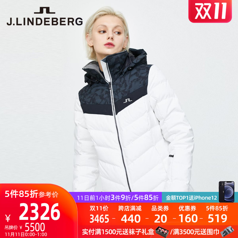 (Double 11) J.LINDEBERG Gold Lindbergh autumn winter new stylish ski suit short down dress girl
