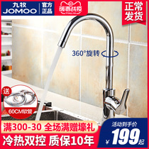 Nine animal husbandry kitchen faucet hot and cold copper Wash Basin pool sink water purification straight drinking faucet home can be rotated