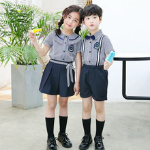 Summer Cotton Short Sleeve Shirt kindergarten uniform for primary and secondary school students