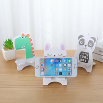 Cartoon phone seat lazy mobile phone rack creative cute simple small portable multi-function stand watching TV artifacts