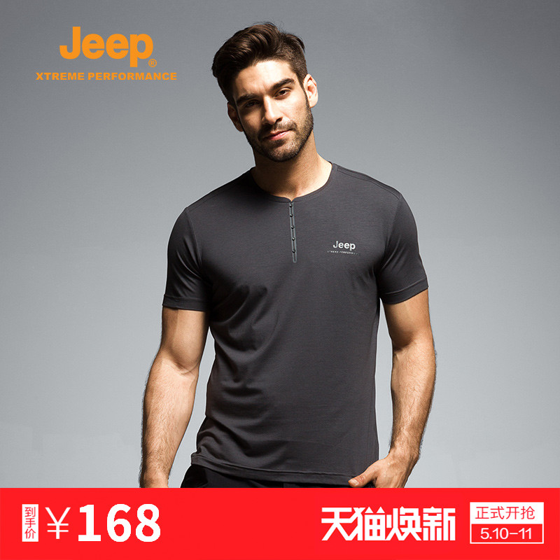 Jeep/Jeep 19 Men's Short-sleeved T-shirt for Spring and Summer Outdoor Sports