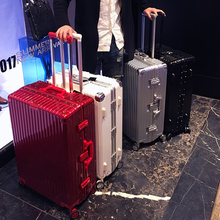 Luggage suitcase ins net red lady pull pole suitcase universal wheel suitcase man 28 aluminium frame suitcase password boarding box 20 inches