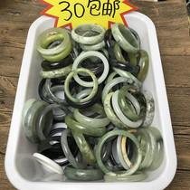 Natural Soapy bracelets live leak diameter complete Laoyu River grinding jade ice material 180 soapy flower jade fluorescence