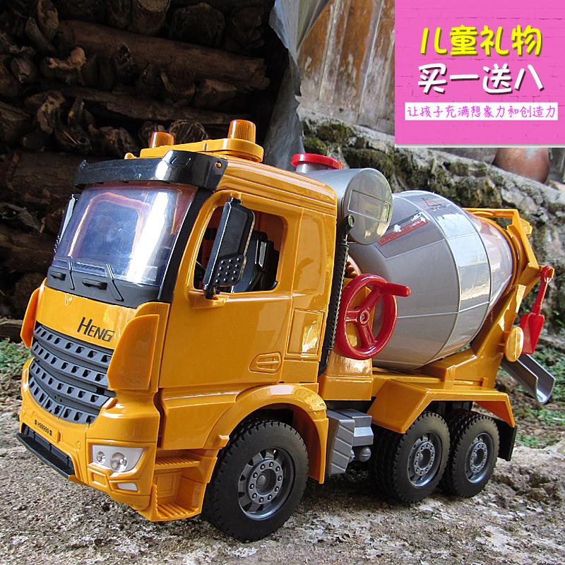 双十二儿童玩具罐车水泥搅拌车大码惯性工程车模型仿真男生小汽车