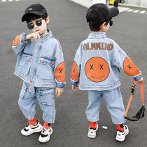 Large childrens clothing boys spring set 2020 new Korean version of childrens spring clothes jeans two sets of Tide