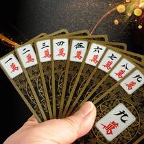 ПВХ матовый все пластиковые покер маджонг КАРТЫ Бумаги Мини Путешествия Портативный утолщенный маджонг покер водонепроницаемый железный ящик