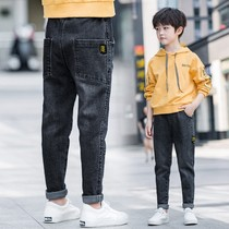 Boys Jeans spring and autumn 2020 new childrens autumn pants in the Big childrens spring Western childrens pants boy pants loose