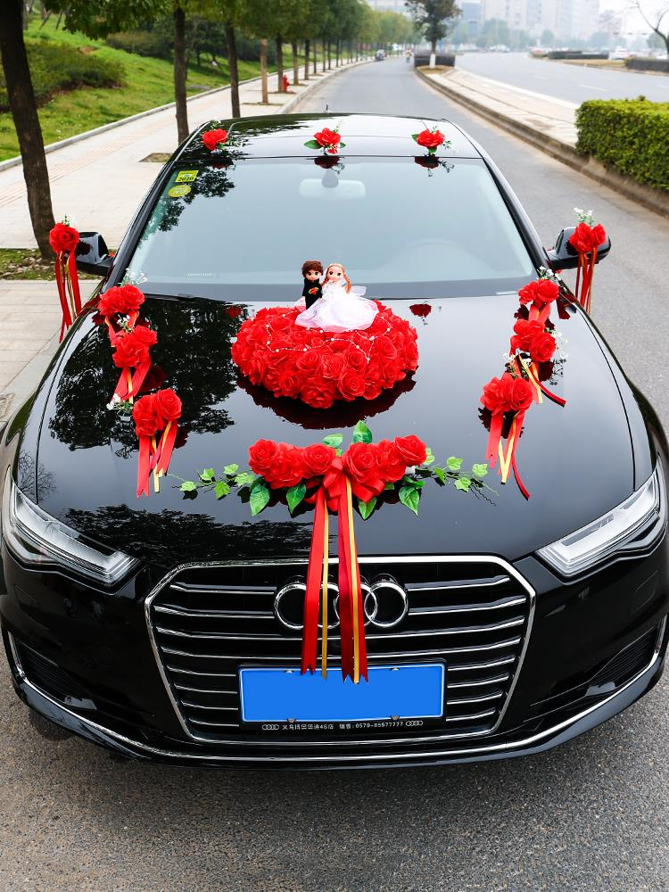 Decorative wedding car fleet decorated full set of head car flower wedding car flower 2020 main wedding car set atmospheric wedding romance tide