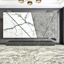 Marbre naturel de la paroi de fond Villa toute la vie nordique moderne minimaliste pierre Plaque grand TV mur