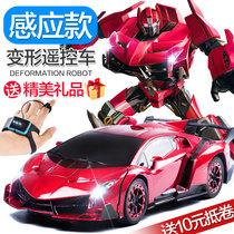 Gesture sensing deformation remote control car King Kong charging action Bumblebee robot racing childrens boy toy car