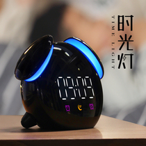牀 silent night light electronic alarm clock students with intelligent charging cartoon childrens dormitory dedicated multi-functional