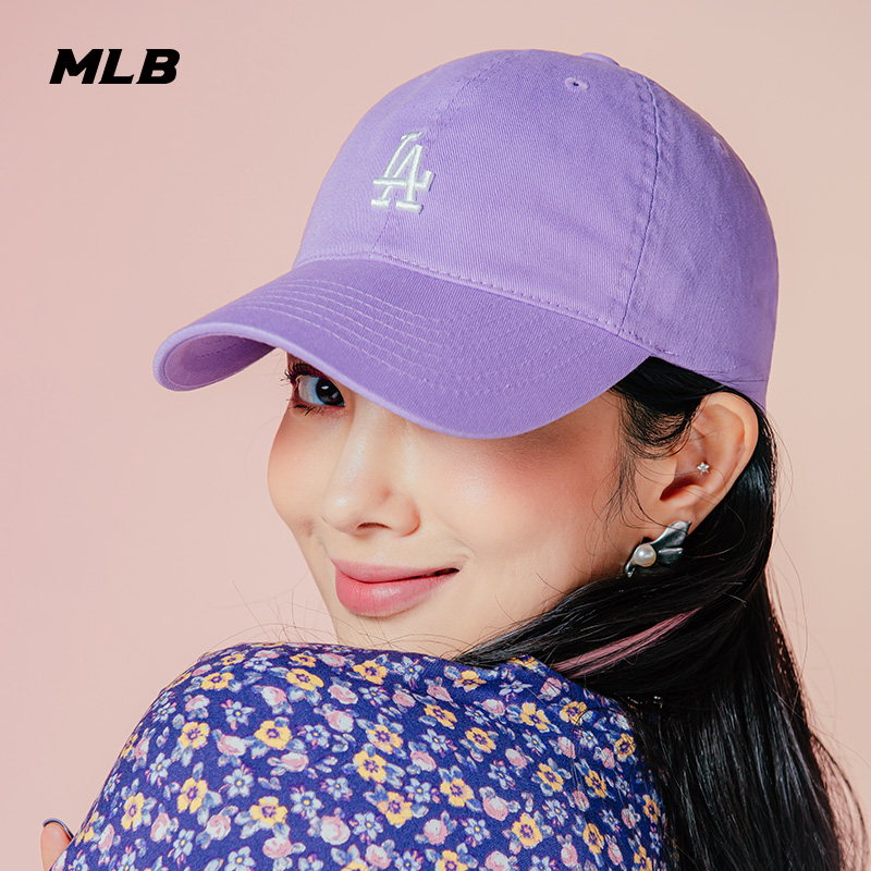 MLB официальная мужская и женская шляпа NYLA винтажный маленький LOGO мягкий топ бейсболка спортивный случайный прилив утка шапка CP77