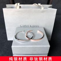 ck браслет сплошной пара молодых мужчин пара надписи dw серебряные руки украшения моды личности Санджай III стерлингового серебра женщины