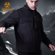 Outdoor commuter tactical down jacket mens warm cotton clothing waterproof cold windshield thick military fans tactical jacket ski suit