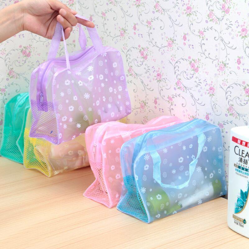 Make-up bag female portable large-capacity male transparent travel artifacts bath pocket toiletries storage set