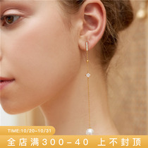 Lulu chang luso pearl earrings long version temperament a two-wearing niche design high-level temperament earrings