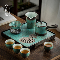 Japanese-style teapot teacup Tea set Household light luxury high-end living room tea making small ceramic Kung Fu office guests