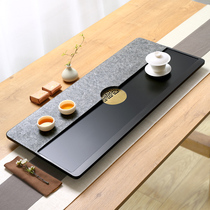 Natural black gold stone tea plate Stone plate set Automatic one-piece kettle Whole rough household stone small tea table