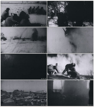 The Eighth Route Army Northeast Anti-Japanese Democratic Coalition Snow snow ice snow video material
