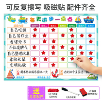 Youyi magnetic self-discipline wall paste childrens growth table home growth habits to develop reward wall paste record form time management punching schedule primary school students learn self-discipline artifact points punching.