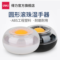 (2 installed) powerful 9109溼 hand-held round hand-stained device financial with a counting cylinder to count money money water sponge cylinder water-stained box financial office creative point money to roll Zhuhai Mian cylinder