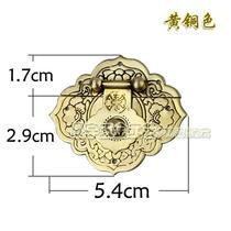 Chenyu hardware antique jewelry box pure copper accessories kit box 釦 locks and hinges set Changmu box copper live