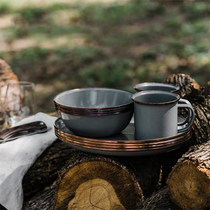 BAREBONES North State cutlery set European-style minimalist Penh Western plate bowl cup combination outdoor picnic bowl