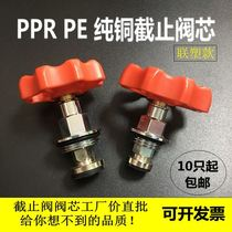 PPR stop valve core PE valve core lift copper valve core switch fittings plumbing fittings