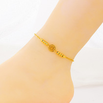 Stylish sand gold jewelry plated 24k gold dream net-foot chain womens summer hundred with the sweet personality of the foot ornament.