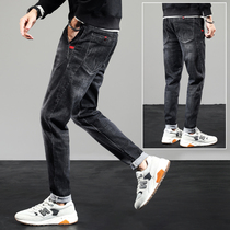 Autumn jeans mens trend with pipe pants new casual pants Korean version of loose slim pants mens pants